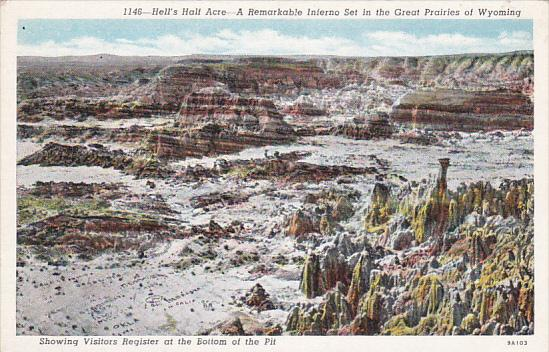 Hell's Half Acre, A Remarkable Inferno Set In The Great Prairies Of Wyoming, ...