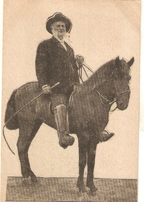 Bishop Hartzell 0n nhis horse  Old vintage English postcard