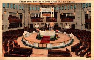 Michigan Royal Oak Shrine Of The Little Flower Interior View 1940