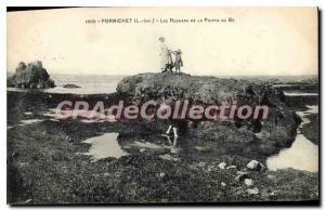 Postcard Old Pornichet L Inf The Rocks Pointe du Be