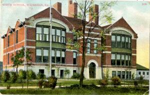 Waukegan, Illinois - View of the North School - in 1909