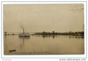 RPPC, Steamer Calvert ,Approaching Burton's Wharf ??? Location not stated , AZO
