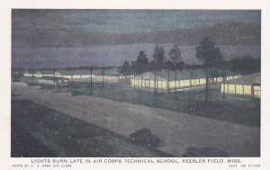 KEESLER FIELD, Mississippi, 1910-20s; Lights on, Air Corps Technical School