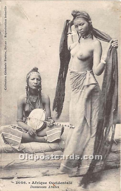 Arab Nude Postcard Afique Occidentale Danseuses Arabes Unused
