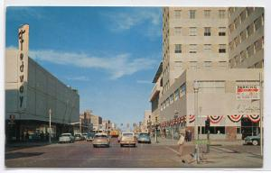 8th Tyler Street Scene Fedway Store First National Bank Amarillo Texas postcard