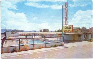 Sands Motel Hwy 89 in Panguich Utah UT 1967