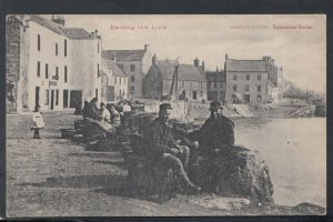 Fishing Postcard - Baiting The Line - Fishermen - Fisher Life Studies  RS20266