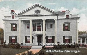 Residence of Governor Higgins Olean NY 1908