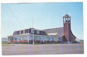 Eglise Et Presbytere De Cap-des-Rosiers En Gaspesie, Gaspe, Quebec, Canada, P...