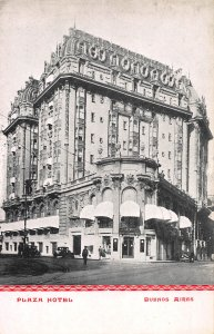 Plaza Hotel, Buenos Aires, Argentina, early postcard, unused