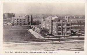 New York Bronx Naval Training School Davis Hall 1944 Real Photo RPPC