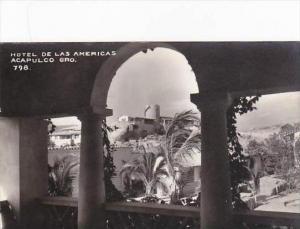 Mexico Acapulco Hotel De Las Americas Real Photo RPPC