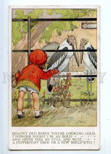 187228 Girl ZOO Leptoptilos by LA GOVEY Vintage Milford PC