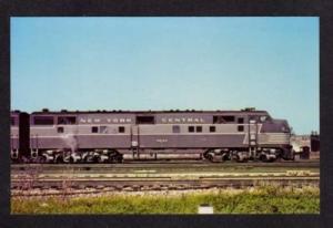 NY New York Central Railroad Train Chicago IL Postcard