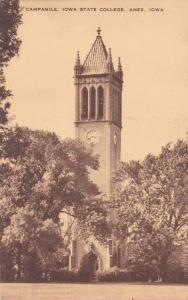 Campanile Clock Tower, Iowa State College, Ames, Iowa 1944