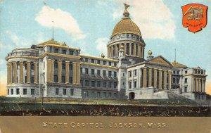 LP20 State Capitol Jackson Mississippi Postcard