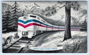 FREEDOM TRAIN Crosses AMERICA 1948  Railroad Postcard