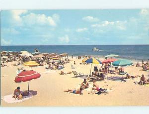 Unused Pre-1980 BEACH SCENE Rehoboth Beach Delaware DE G5712