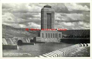 MT, Fort Peck, Montana, RPPC, Fort Peck Dam, Power House, Photo