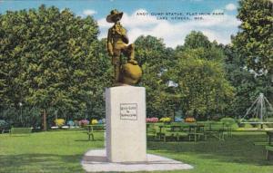 Wisconsin Lake Geneva Andy Gump Statue Flat Iron Park 1952