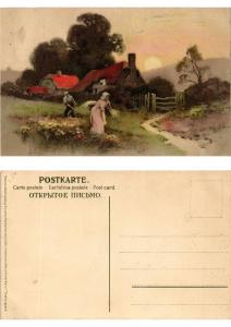CPA Frohes Schaffen in freier Natur Meissner & Buch Litho Serie 1355 (730482)