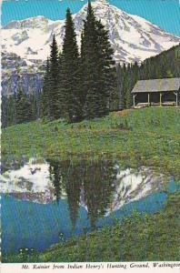 Mount Rainier From Indian Henry's Hunting Ground Mount Rainier Washington 1975
