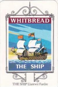 Whitbread Brewers Trade Card Maritime Inn Signs No 4 The Ship Llantwit Fardre