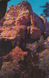 Arizona Oak Creek Canyon Beautiful Red Rock Pinnacles In Oak Creek Canyon