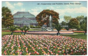 Chicago, Conservatory and Fountain, Lincoln Park