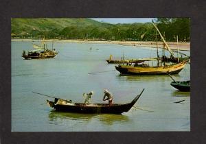 Vietnam Fishing Boats Qui Nhon South Viet Nam Postcard Asian Asia Viet-Nam