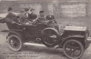 WASHINGTON , D.C. , 1910s ; President Taft & Family in White Steamer Car