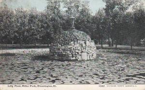 Lilly Pond, Miller Park, Bloomington, Illinois, PU-1909