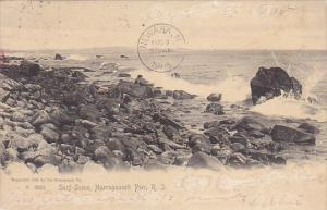 Surf Scene Narragansett Pier Rhode Island Rotograph 1905