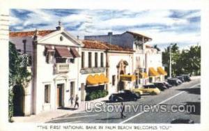 First National Bank Palm Beach FL 1946