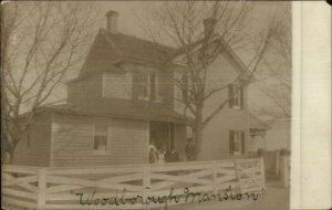 Washington DC to Aquasco MD Woodborough MansioN Real Photo Postcard c1910