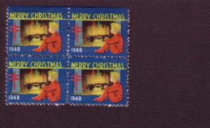 Block of Christmas Seals, 1948