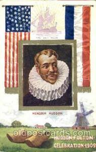 Hendrik hudson, the half moon Hudson Fulton Celebration Expostion 1909 Postca...