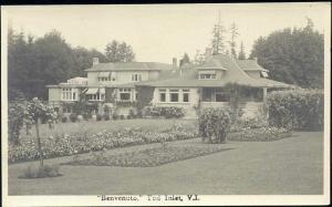 canada, TOD INLET, V.I., Benvenuto (1930s) RPPC