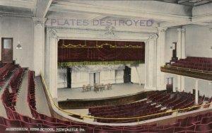 NEWCASTLE , Pa. , 1900-10s ; Auditorium , High School