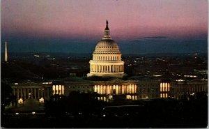 Washington DC US Capitol Building At Twilight Postcard