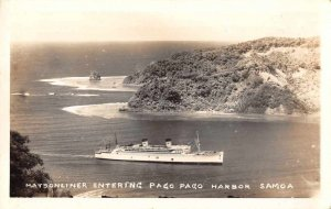 Pago Pago Samoa Matsonliner in Harbor Real Photo Vintage Postcard JH230389