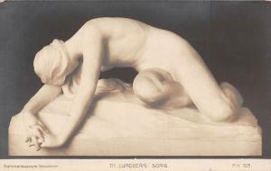 Art Postcard: Nationalmuseum Stockholm, Th. Lundberg: Sorg, Sculpture