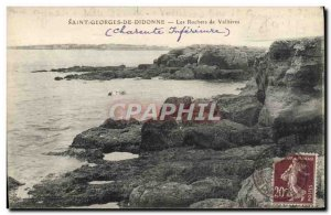 Old Postcard Beach St. George Dionne Les Rochers Vallieres