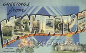 Greetings from, WA Postcard      ;      Greetings from, Washington Post Card