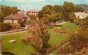 Lava Hot Springs Idaho Flower Gardens Foundation 1958 Seaich Postcard 21-5922