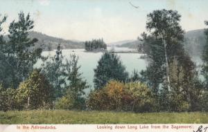 View on Long Lake from Sagamore Hotel - Adirondacks, New York - pm 1906 - UDB