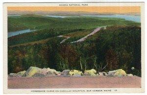 Acadia National Park, Horseshoe Curve On Cadillac Mountain, Bar Harbor, Maine
