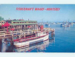 Unused Pre-1980 SHOPS ON FISHERMAN'S WHARF Monterey California CA F4376