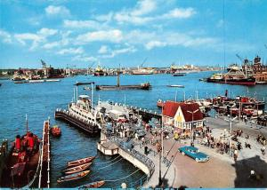 Netherlands Amsterdam View of the Y. Harbour Ship Schiff Vintage Car