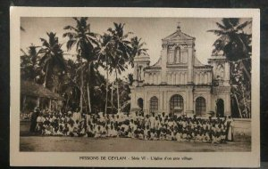 Mint Ceylon Real Picture Postcard RPPC Missionaries Of The immaculate Mary